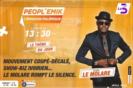 MOLARE ENFIN PARLE D'ARAFAT ,EMMA LOHOUES ET DU SHOWBIZ IVOIRIEN SUR LA 3